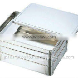 SUS304 Stainless Steel Food Lid and Tray for Dumplings Gyoza Container