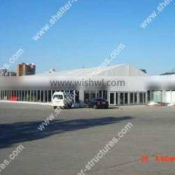 15m clear span party tent glass wall