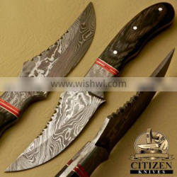 CITIZEN KNIVES, BEAUTIFUL CUSTOM HAND MADE DAMASCUS STEEL SKINNING KNIFE