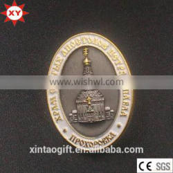 Customized Oval Building Shaped Lapel Pin