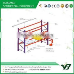 Hot sell 2015 cheapest 3 layer long span heavy duty warehouse storage palleting rack, storage rack (YB-WR-C67) Quality Choice