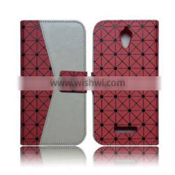 flip stand cover for alcatel one touch elevate 5017E,pu leather case for alcatel 5017E with card slot