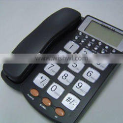 office phone with caller ID, big buttons