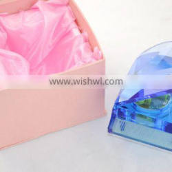crystal music box with high-end crystal material pull string music box for toys