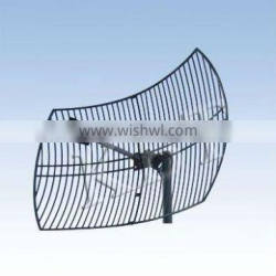 2.1-2.5GHz 24dBi UV Coated Die Cast Aluminum Grid Parabolic Antenna