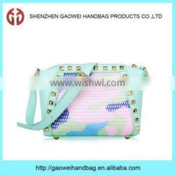 Factory wholesale new leather pu pretty girl handbags