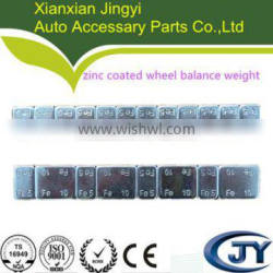 wheel weight with Zn treating