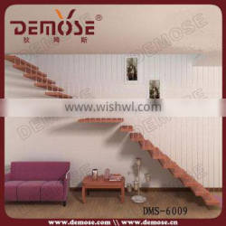 small space stairs perforated metal treads floating stairs