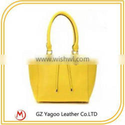 Korea fashion white ladies leather tote bag handbag