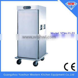 Popular high quality electric food warmer cart with single door