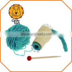 Wooden Craft Wooden Knitting Spool Little Mary 1 pcs for Kids