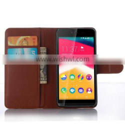 Fashion Litchi Texture Wallet PU Leather Flip Case Cover for Wiko Rainbow Jam With Card Slots, case for wiko rainbow jam
