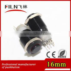 FINL IP67 6v blue high flat momentary low-profile momentary buttons