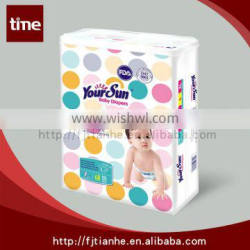 A graee from China sales Colour-backsheet Baby Diaper With PP tape