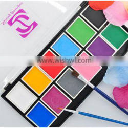 Non toxic multi color face body painting set for party water based easy wash body face painting Quality Choice