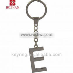 Alphabet shaped metal keychain, various sizes and colors are available