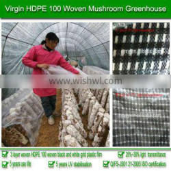 150g weight 15% light transmittance 100% virgin HDPE 5-year use life 200 micron plastic mushroom greenhouse for agriculture used