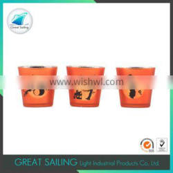 garden decoration glass candle jars and lids