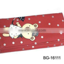 trendy magazine clutch purse with toy printing