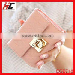Wholesale hot selling young girl coin cheap leather wallet