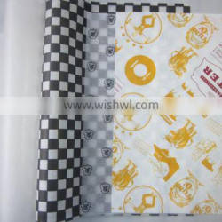 printed wax coated paper for sandwich Wrapping paper