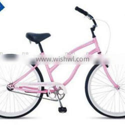 cheap price 26 inch single speed beach cruiser bike for lady