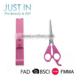 Plastic Human Hair Bangs Clip And Stainless Steel Hair Cutting Scissor