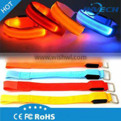 LIGHTWEIGHT, SOFT, FLEXIBLE NYLON AND EXTREMELY EASY TO WEAR led light silicon wristband