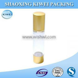 Gold airless packaging cosmetic big botle