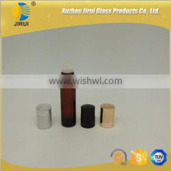 10ml amber roller on glass bottle with cap