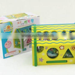 Multi purpose miniature wooden toy house intelligent toys for kids