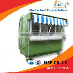 High quality Stainless Steel Hot Dog Cartfor fast food hamburger cart for sale