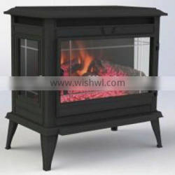 24 Inch Compact Luxury Remote Control Electric Pellet LED Stove