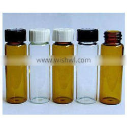 15ML brown Clear Screw Neck Glass Bottles With Plastic Cap Glass Vials