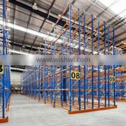blue and orange double deep pallet racking