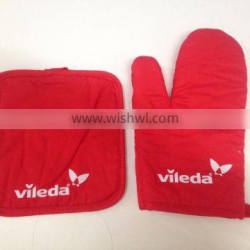 promotional kitchen set, terry towel / pot holder / oven mitts / glove