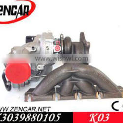 Replacement Audi TT turbo k03 53039880105