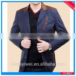 good quality suit collar long jacket for man