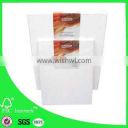 profession 100% cotton blank stretched canvas frame