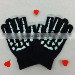 New Arrival Bone Pattern Touch Screen Gloves Hand Bone Gloves For Mobie Phone