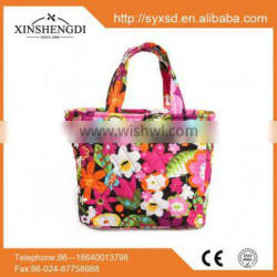 New style cotton pretty quilted fabric foldable gorgeous brand handbags