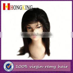 Human Hair Virgin Remy Lace Front Wig With Bangs From China