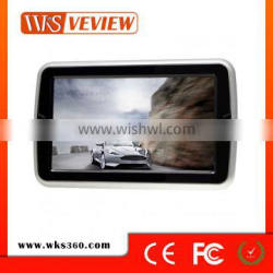 2016 new 10.1inch headrest DVD player with touch screen/ button with bracket hanging behind of front seat