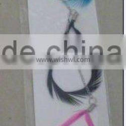"""Fancy 8""""-26"""" pearl feather hair weft"""