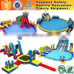 commercial inflatable giant water park with water slide and pool, water sports games price