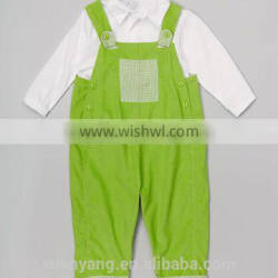 100% Cotton Shirt And bib pants babies clothes suspender trousers and tops 2 piece for baby cothing sets