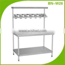 Stainless Steel Kitchen Working Table With Top Shelf BN-W26