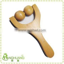 wooden roller massager with handle