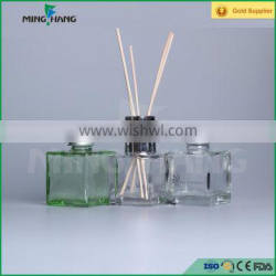 120ml square glass perfume diffuser glass bottle with silver screw cap