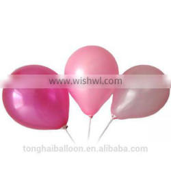 China Factory price 12 inch 2.8g Colorful latex round Balloon/pealized round balloon